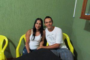 Jean Carlo Chiconi  e a namorada Irani Souza