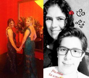 """Mãe: Marlene C. Rosa Massarioli Filhos: Lourraine Rosa e Enzo Rosa Massarioli  """"Mãe, palavra tão pequena e de um enorme significado: a vida. Aquela que nos deu a luz, somos gratos por tê-la como nossa mãe, uma mulher batalhadora e guerreira, que nos ensina sempre o melhor caminho a ser seguido, nos protege, nos encoraja, nos dá os melhores conselhos e, acima de tudo, sempre com seu amor incondicional, e dando-nos o melhor carinho do mundo. Desejamos a você um feliz Dia das Mães, não só hoje. mas todos os dias, porque você merece muito. Amamos a senhora""""."""
