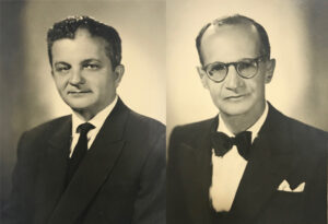 Os homenageados: O Inspetor Federal José Anthero Guimarães,  e  o ex-Inspetor Federal Dr. Celso Pinto Ribeiro