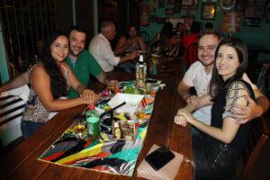 Antônio Barreto e a noiva Marcelina Biziac, Evandro Lima e a namorada Bruna Machado