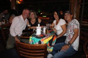 Jomar Delefrate/Mirza, Eduardo Zarreta e a namorada Ana Santos