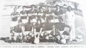 """Atletas que jogavam pela Associação Atlética Ituveravesnse, no ano de 1984. (1)  Luís Fernando da Silva Santos (""""Solera"""") (inmmeoriam), (2) Eder Luís Lourenço da Rocha,  (3) Leandro César Ferreira Silva (""""Leandro Polícia""""), (4) o goleiro Leir (in memoriam), (5)  Osmar dos Reis Fernandes (""""Motoca""""), (6) Luciano Chaebub Rodrigues (""""Lolô""""), (7) o massagista João Carlos (""""Cabeça""""),  (8) Oswair Donizete Trindade Pereira,  (9) Roberto Carlos dos Santos Silva (""""Robertinho""""), (10) Humberto Alcântara Palhares, (11) Maurício Politano Dimas (""""Lorde"""") e (12) Sérgio Soares (""""Serginho Mendonça"""") <br>"""