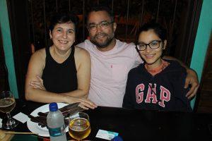 Israel Marchiori Júnior/Clébia Amorim e a filha Jordana Marchiori