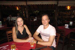 Willian Márcio da Silva e a namorada Daiana Ribeiro