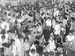 Foto dos anos 60, dos famosos carnavais da Associação Atlética Ituveravense, que era considerado um dos melhores da região, e que atraia foliões da região e de várias outras cidades