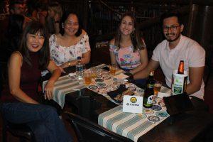 Mary Sato, Emilce Kurimori, Felipe  Kurimori e a namorada Camila Menezes