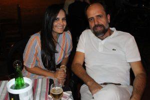 Hamilton Dantas e a namorada Jaqueline Fagundes