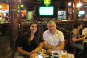 João Albino Gonçalves e a filha Marilia Machado Gonçalves