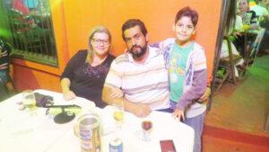 Lucas Moraes/Cláudia  e o filho Filipe
