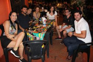 Ana Paula Dias, Iuri Diniz e a namorada Ana Teresa Dias, Maria Emília Silva, Maria Fernanda Silva,  Luciano Silva e Fausto Arana Giácomo