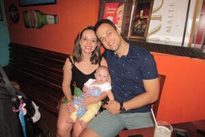 Diego Costa/Ariana Meneguine  e a filha Alice Meneguine Costa