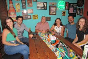 Rômulo Zanella e a noiva Júlia Galdiano, Antoninho Carlos Vieira de Matos/Elizete Galdiano, Leonardo Flores e namorada Natália Galdiano