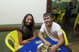 Joaquim Oliveira e a noiva Lorena Azevedo